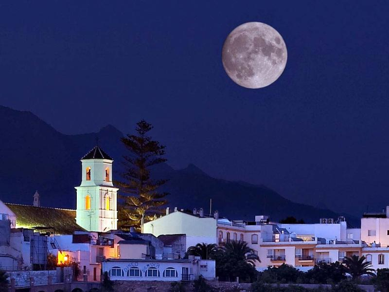 Nerja at night.