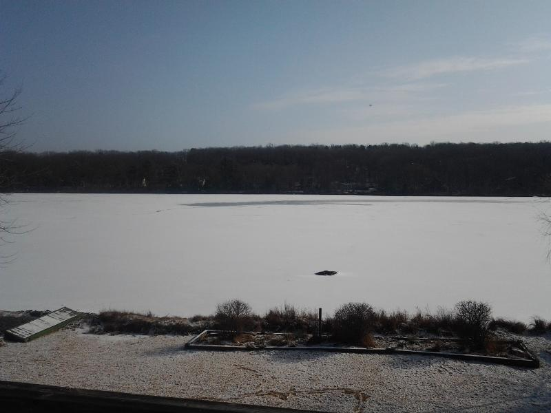Winter lakeview off the deck