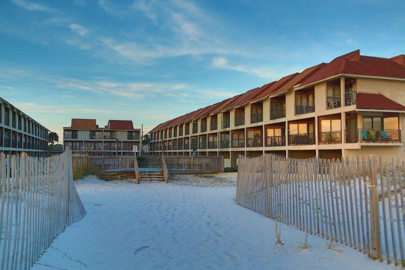 View of Gufside Townhomes from the Beach