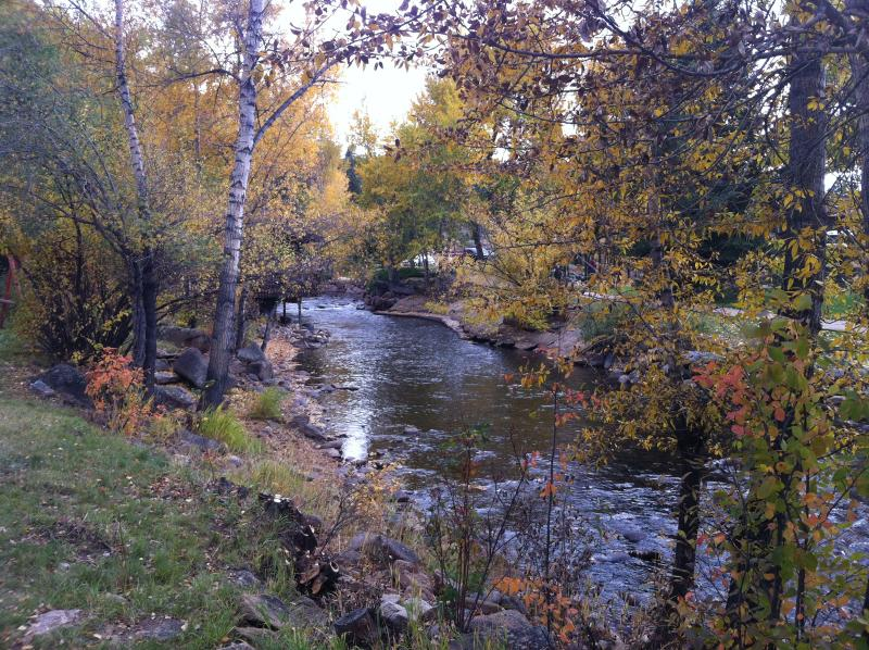 In Colorful Colorado at an elevation of 7,532 feet along the Big Thompson River.