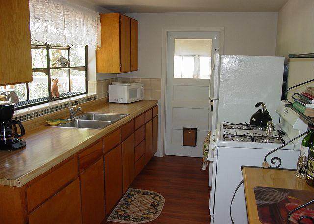 Kitchen with door to Screen Porch
