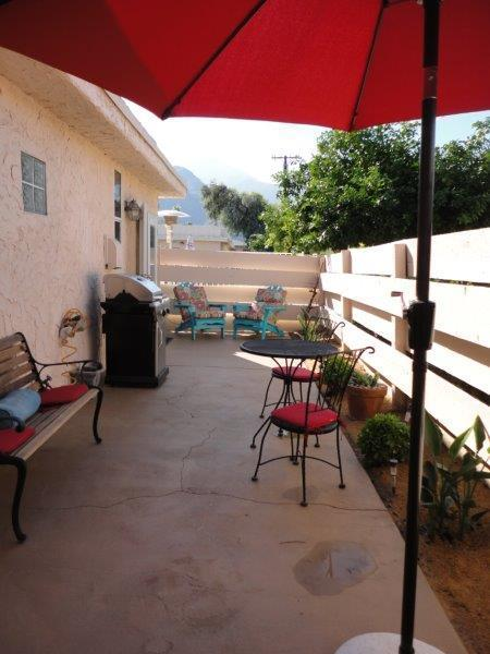 Back Patio features Mountain Views...french doors from Master & Great room
