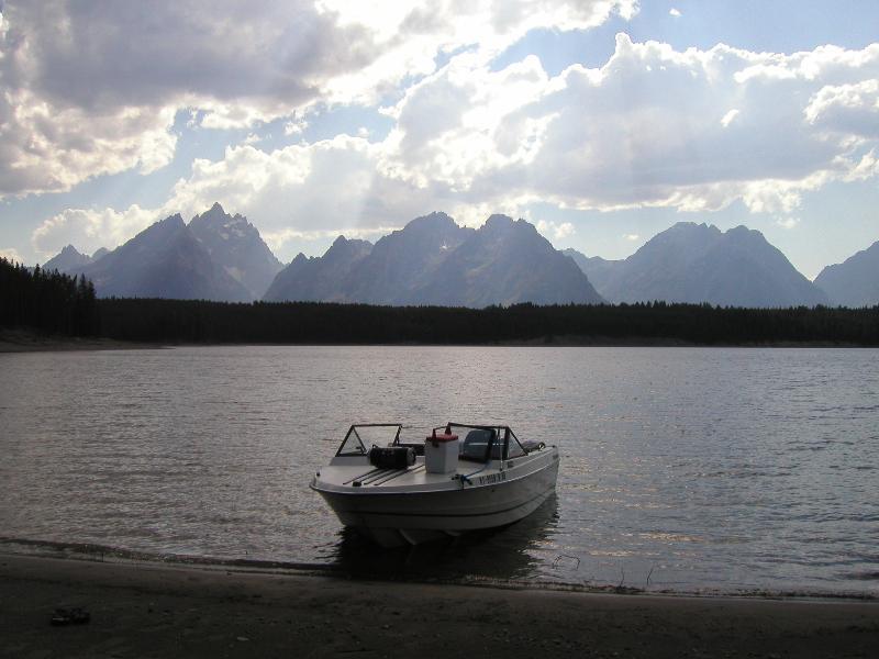 Beautiful Jackson Lake in nearby Grand Teton National Park