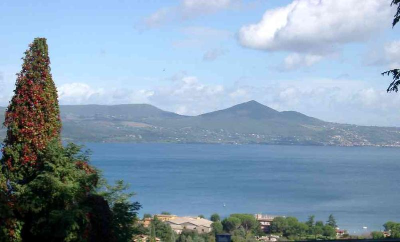 Lake Bracciano, as seen from the village above