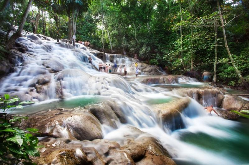 Dunn's River Falls One of the top tourist attractions on the island.  Only ten minutes drive away