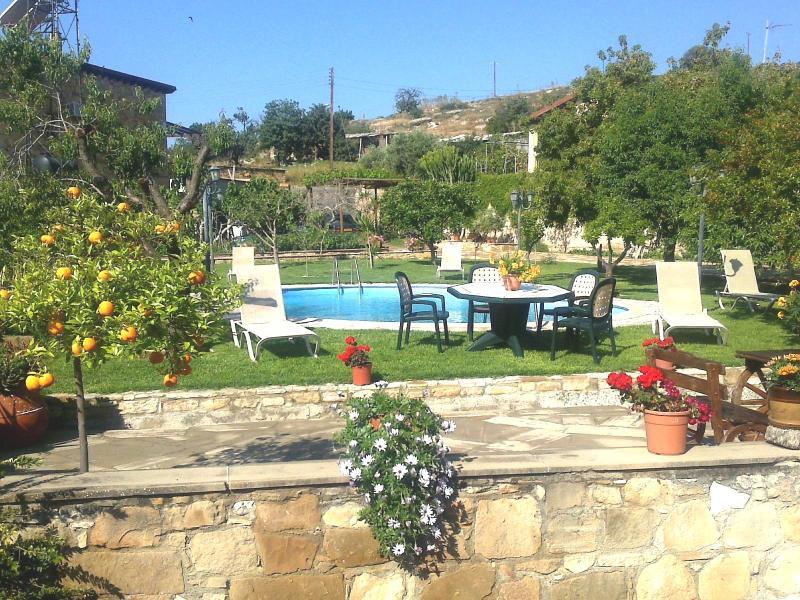 Three bedroom villa with private pool and garden, alquiler vacacional en Zygi