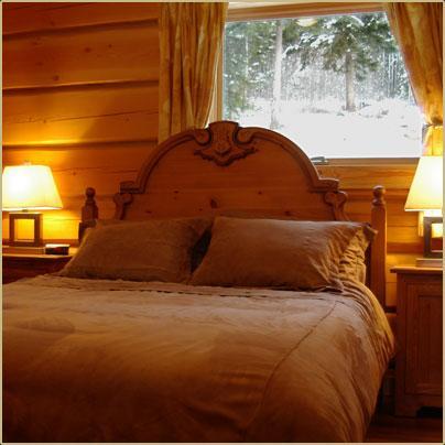 Dormitorio de la reina, Deer Lodge, de oro, AC tiene baño privado