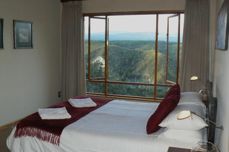 Cliffhanger Bedroom where you can lie in bed and drink in the view.