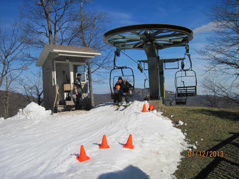 Chair lift on Potato Patch