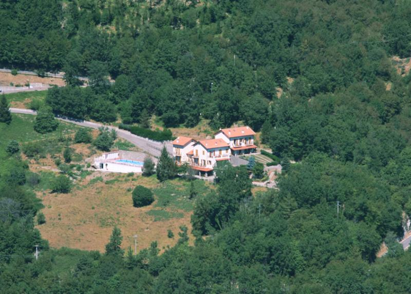 Aerial view of BelBea Tourist Resort at Cà de Berna - Balestrino