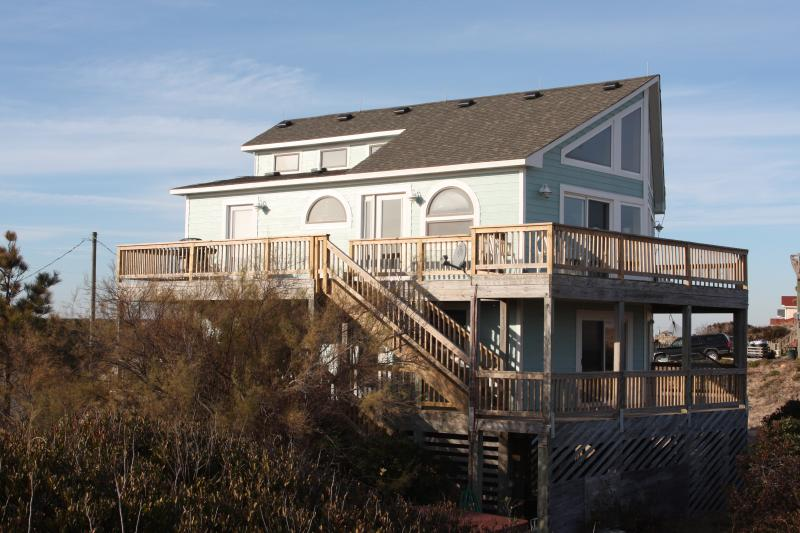 House with extensive outside decks