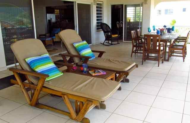 Read or relax on the veranda enjoying the ocean view.