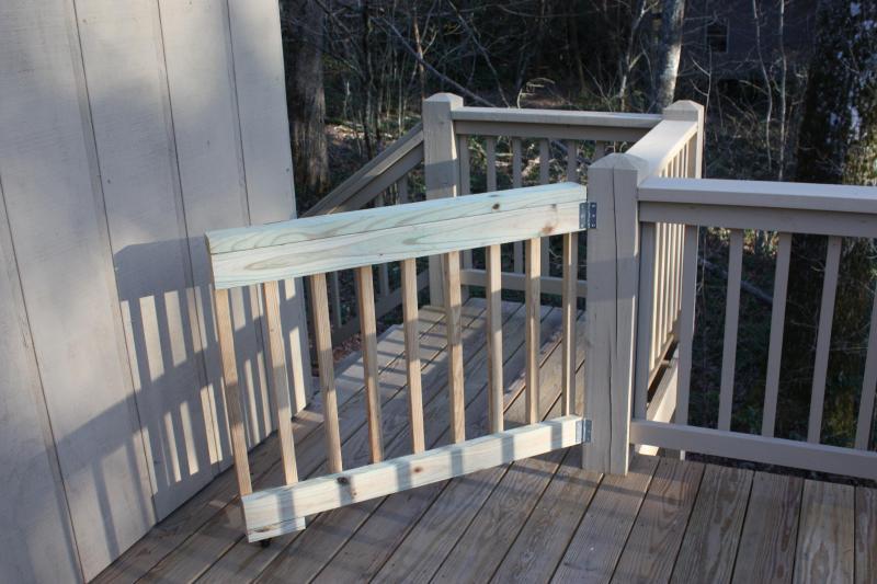 Gate on back porch