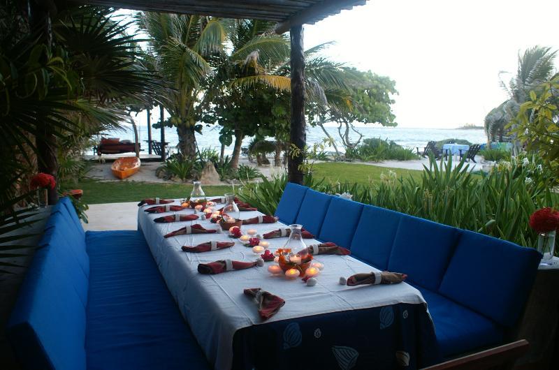 Cene Al aire libre por el mar Caribe