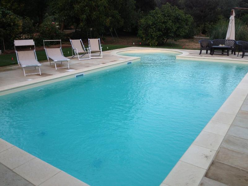 Newly remodeled swimming pool with Kiddie pool attached