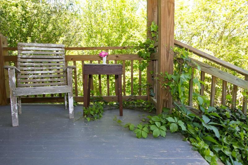 Front porch reading nook.