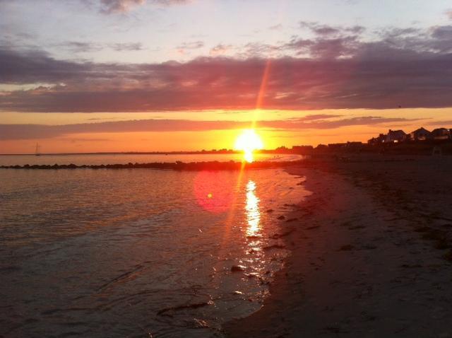 Typical Sunset at Roger Wheeler Beach