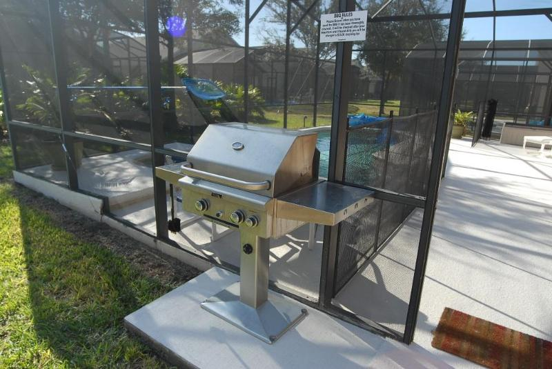 BBQ grill included with the rentals
