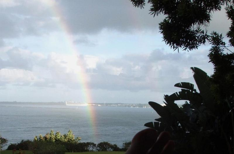 Rainbows from front lanai