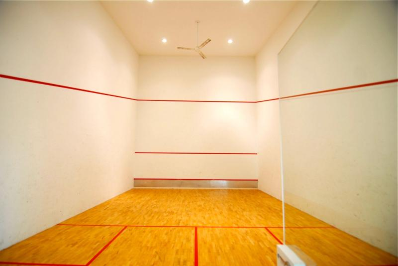 Squash court for guests