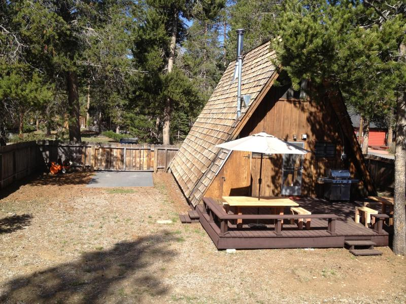 Chalet La Reunion Lake Tahoe Vacation Rental Backyard