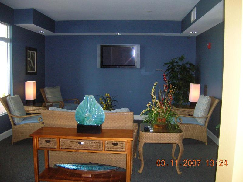 TV room in clubhouse