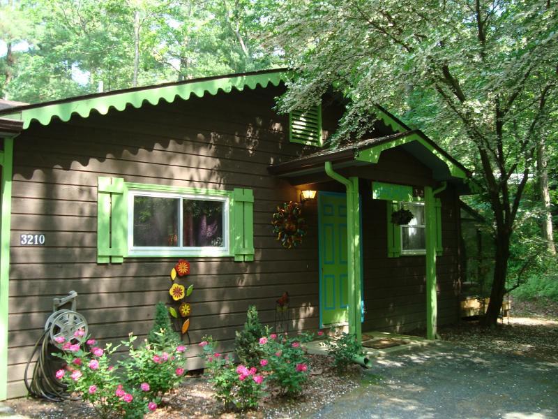 Stoney Creek cabina es encantador dentro y por fuera.