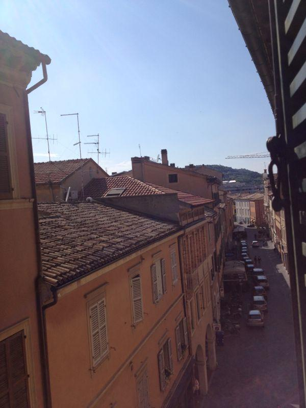 The wonderful sight of the main street of the town, the city roofs and our beautiful hills