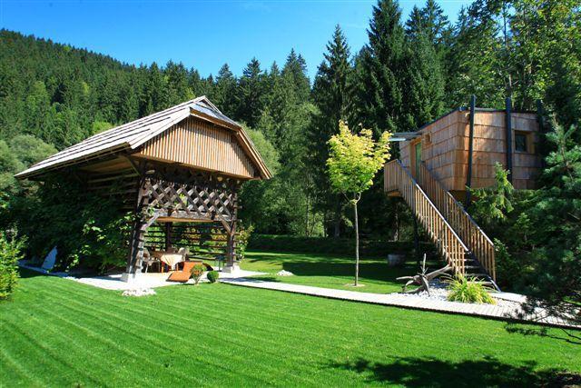 Hayrack and tree house
