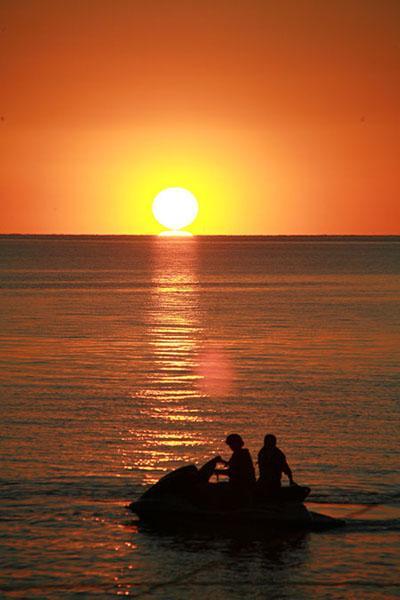 Wonderful evening sunset