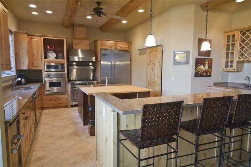 Top of the line Viking appliances for the foodie in you! Vaulted ceilings creates plenty of space!
