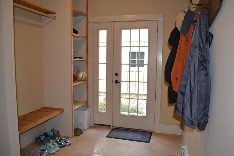Mud room near garage/side door...a convenient place for coats, shoes, and boots