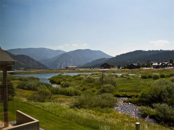 View of West Fork Gallatin River from deck; eat a home cooked meal on the deck and enjoy the view
