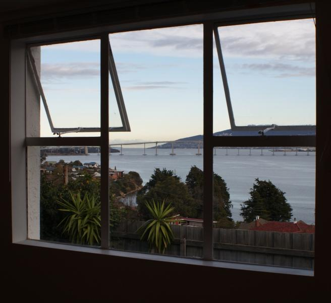 dusk on the Derwent River from your windows