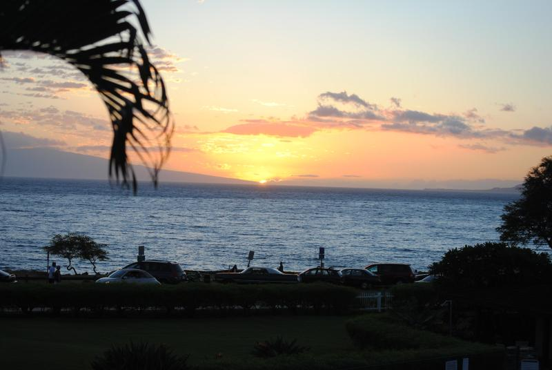 Actual Sunset View from Our Lanai