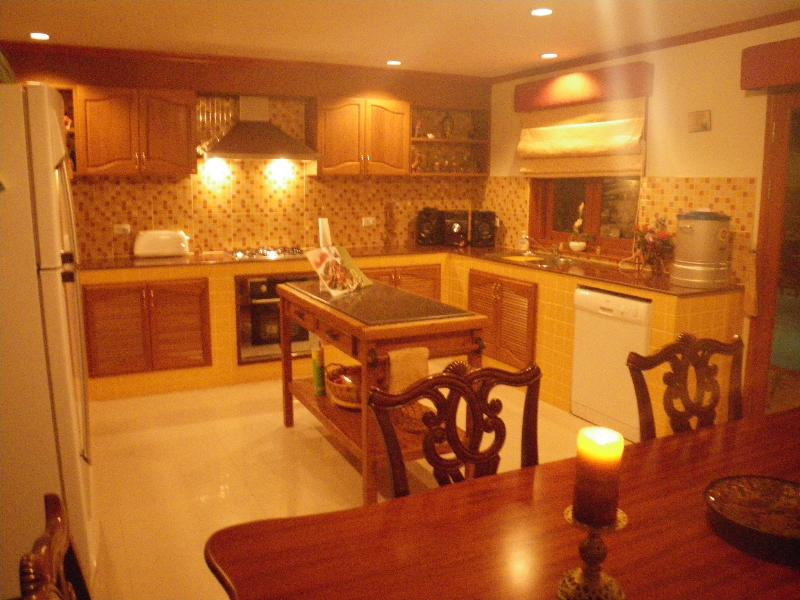 Kitchen and dinning at night