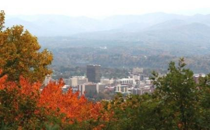 Mountains Hugging Downtown Asheville