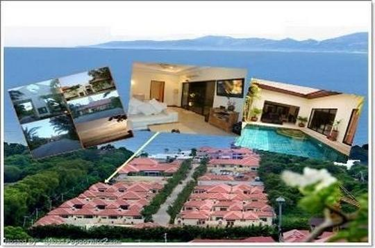 Villa with swimming pool on the beach in Pattaya, holiday rental in Pattaya