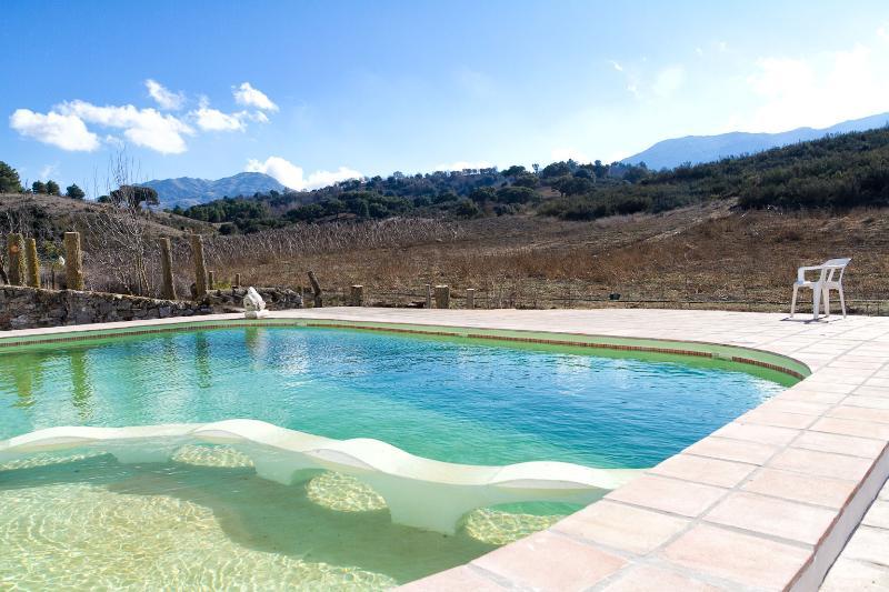 View across the main pool
