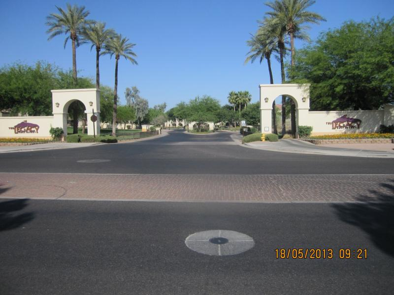 Entrance to Cachet at the Legacy Condos