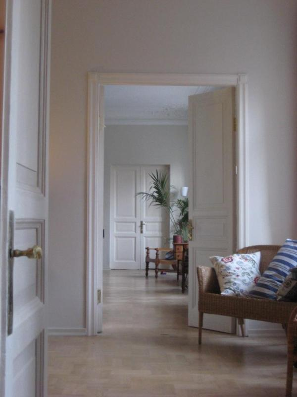 The enfilade at the front of our apartment