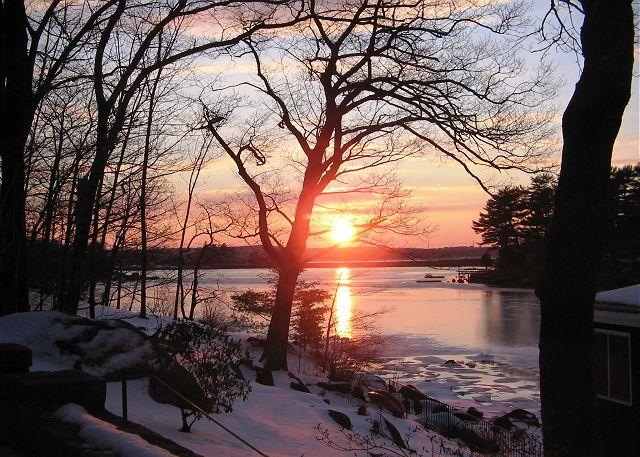 Winter Sunset over Goose Cove.