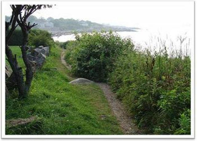 Walk to the Atlantic Path and Headlands overlooking Rockport Har