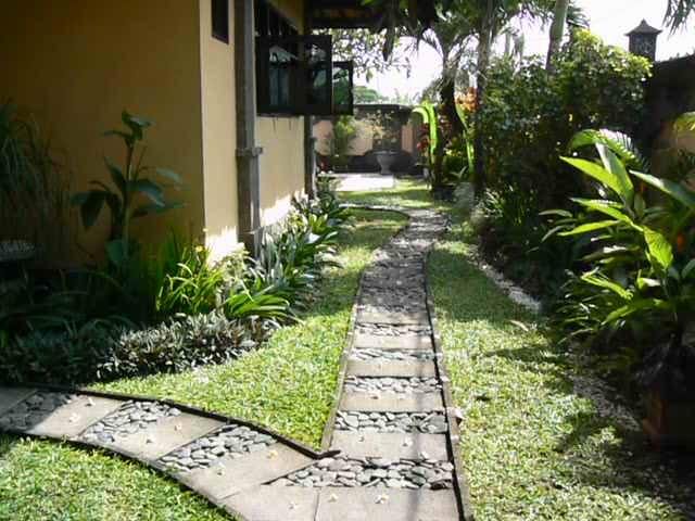 Entrance to the main villa doors and our side garden.
