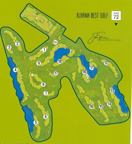 Golf course plan