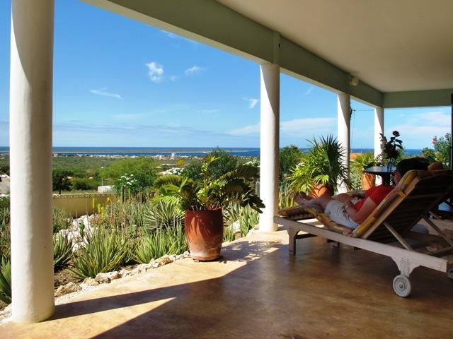 Relax in the breeze on the veranda and enjoy the stunning view of the Caribbean Sea.