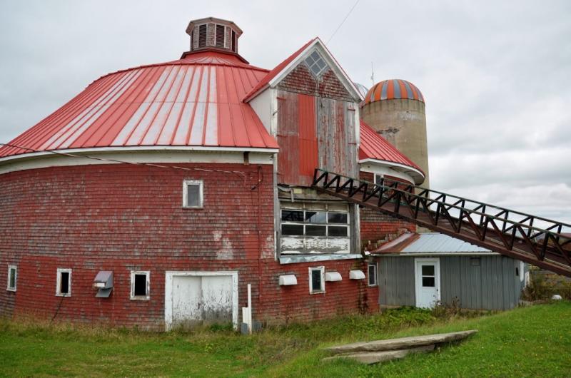 Histórico granero redondo - Barnston.