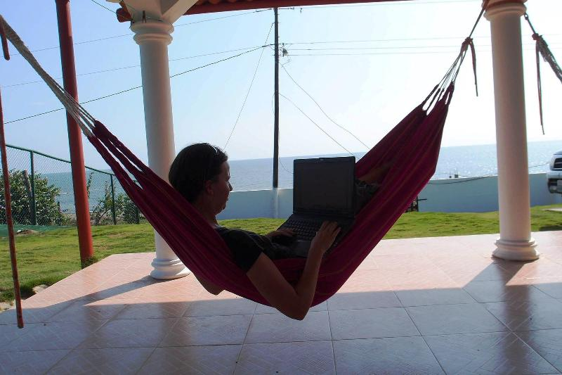 The beach lifestyle with wireless internet