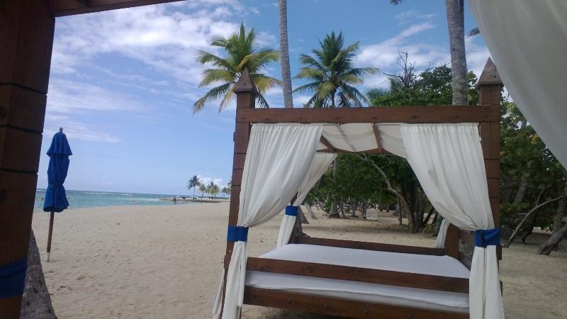 Beautiful Pristine, Private Beach with Bar/Restaurant, Bathrooms/showers, Lounge Chairs,  Umbrellas