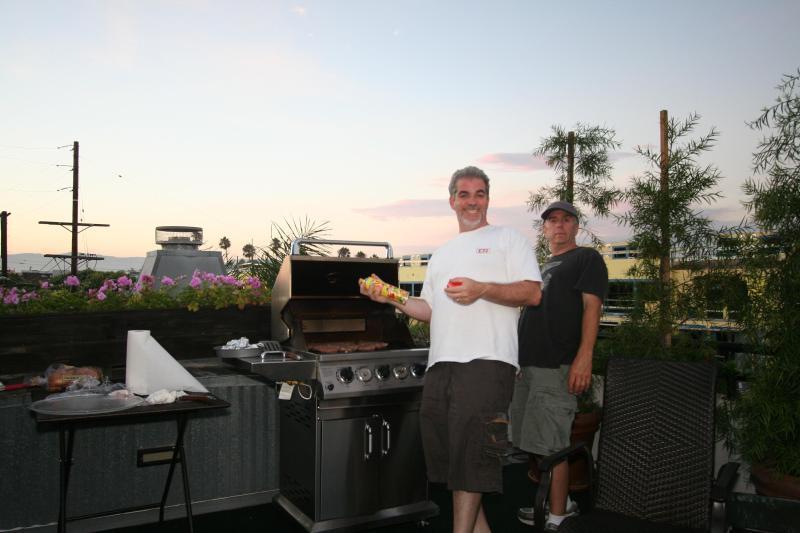 Op het dak terras met Grill